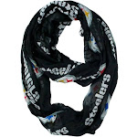 Little Earth Pittsburgh Steelers Sheer Infinity Scarf