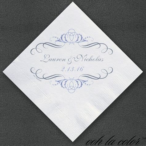 Fancy Filigree Personalized Napkins