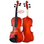 D'Luca Meister Ebony Fitted Beginner Violin Outfit 1/8