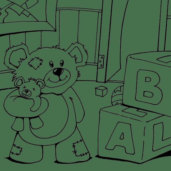Nursery Teddy Bear Coloring Page Coloringcom