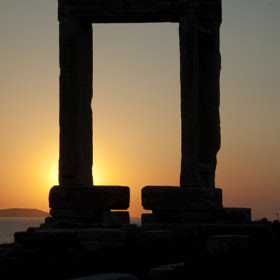 Sunset in Naxos - Portara by Antonis  Androulakis (andrant) on 500px.com