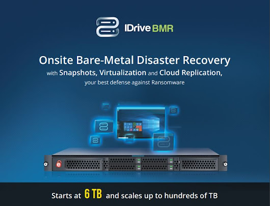We've Updated IDrive BMR with Virtualization and Web Remote Access