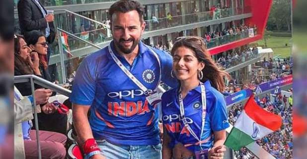 Pakistani man Misbehaved with Saif Ali Khan during India Pakistan match of ICC World Cup 2019