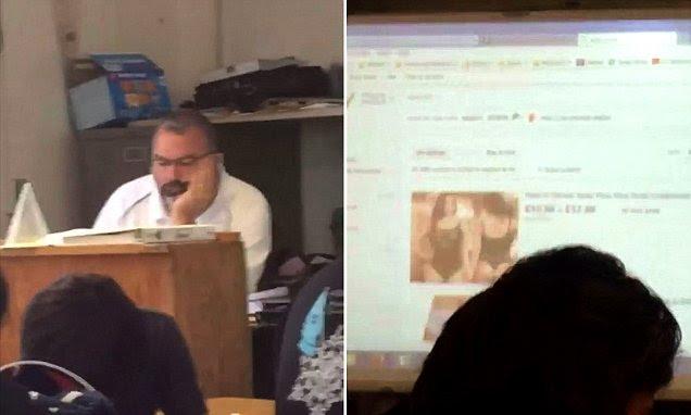 Reddit user catches teacher browsing for lingerie on eBay in video