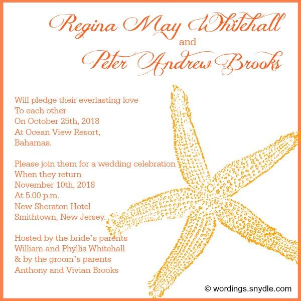 Cool wedding invitations for the ceremony Destination wedding
