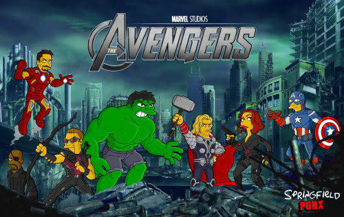 Wallpaper Wednesday: Simpsons Avengers More sizes available @Springfield Punx