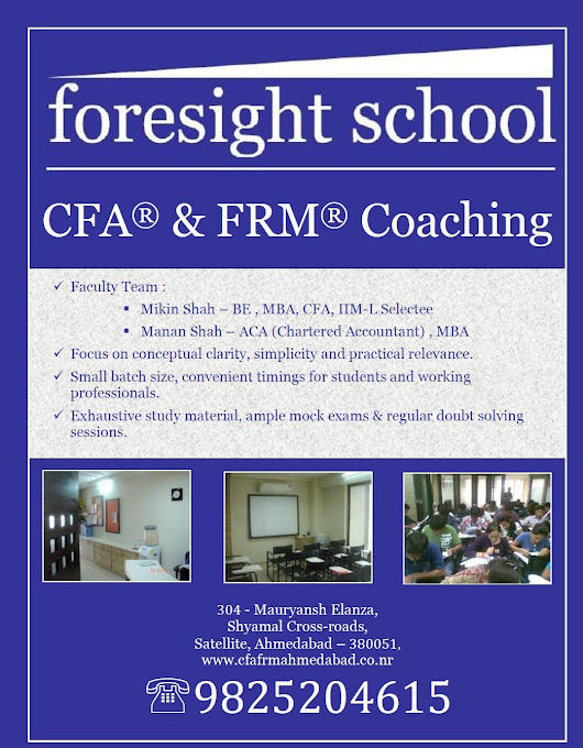 Useful Material for CFA & FRM Aspirants - CFA & FRM Coaching in Ahmedabad - foresight school