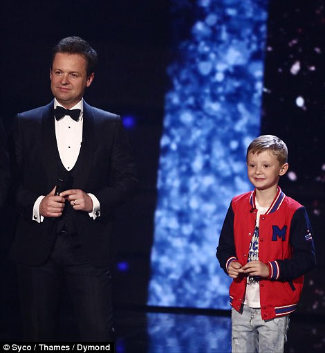 Hitting back: In his act, he quipped: 'I just want to thank Ant and Dec for spending all that money voting for me to get to the final... the length they'll go to make themselves seem taller!'