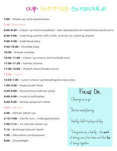 Daily Routine Schedule For Toddler   Daily Planner