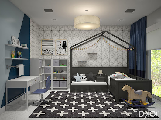 Modern, Prism-Inspired Kids' Rooms by DKOR Interiors