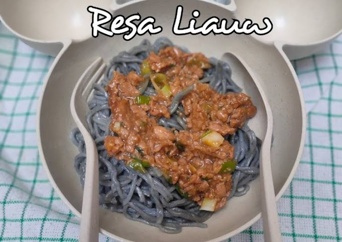Resep Praktis Mie Ayam Charcoal Lezat