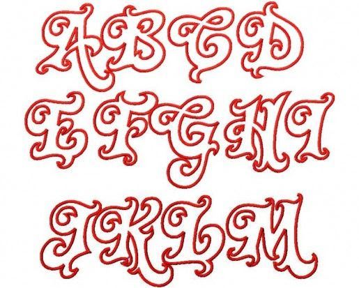 Bubble Letter Cut Outs | Big Letters Of The Alphabet Printable ...