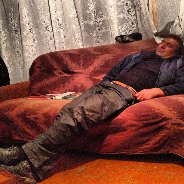 Sleeping artist