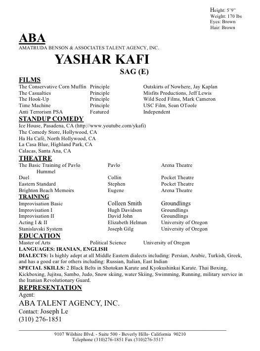 YasharKafiResume