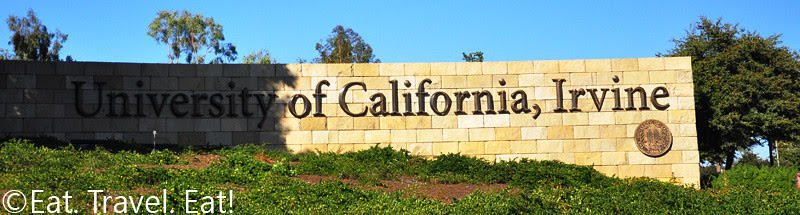 University of California, Irvine Entrance Sign on Bison