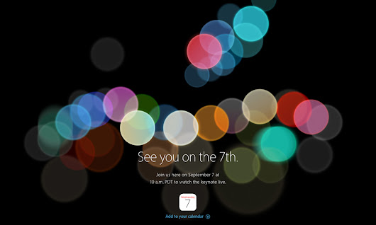 Regardez en Direct la Keynote Apple du 7 Septembre - Tech The Road