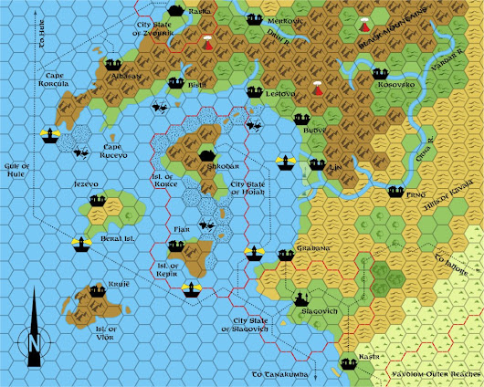 Dragon 171 Slagovich, 8 miles per hex | Atlas of Mystara