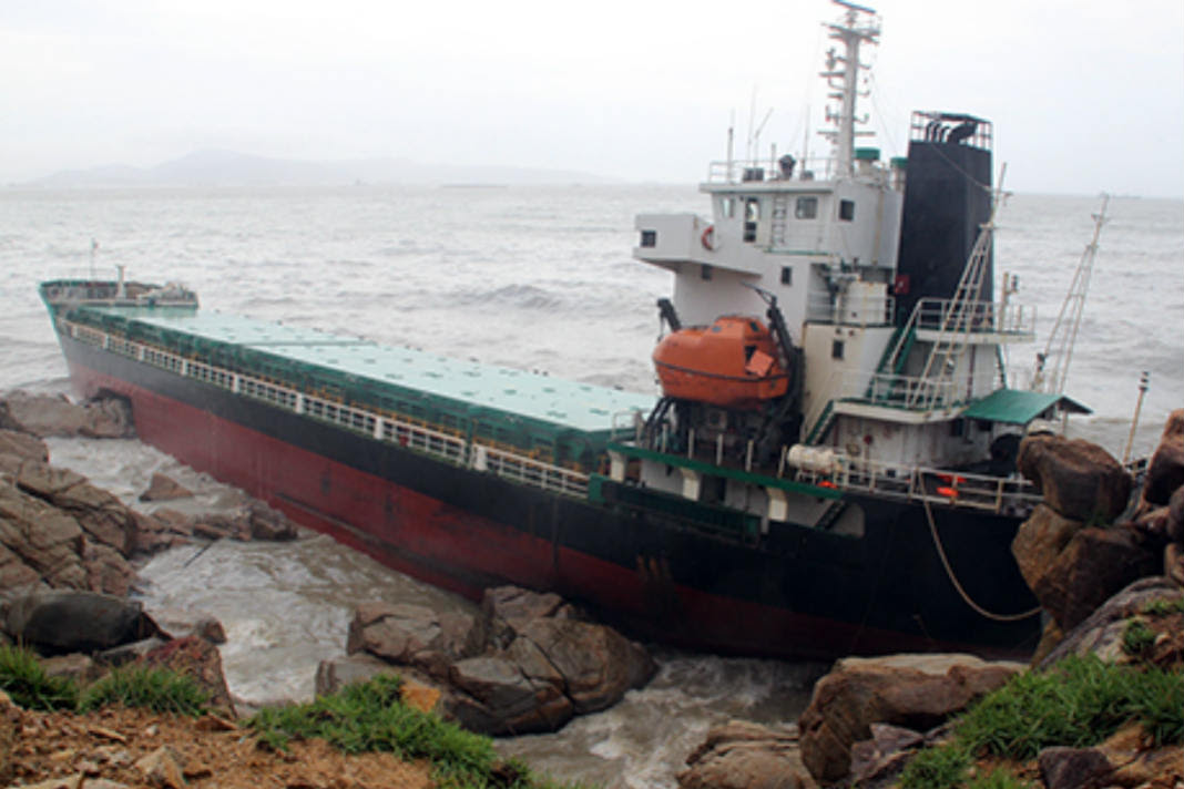 Eight Cargo Ships Beached Or Sank In Typhoon Mfame Guru