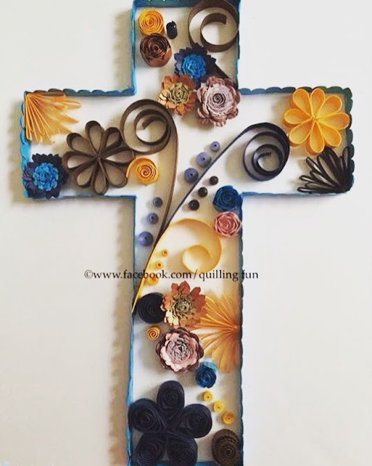 May this Easter Sunday inspire you to new hope, happiness, prosperity and abundance, all received through God's divine grace… 💗 #quillingfun #quilledcross #quilled #faith #Godsgrace #filigrana #bythecross #EasterSunday #Blessed