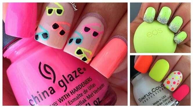 Desenhos coloridos e criativos para as unhas