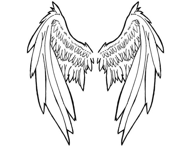 Large Tribal Angel Wing Tattoo Tattoomagz