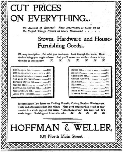 Hoffman & Weller Advertisement