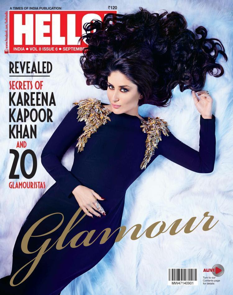 Kareena Kapoor on the cover of Hello Magazine September 2014