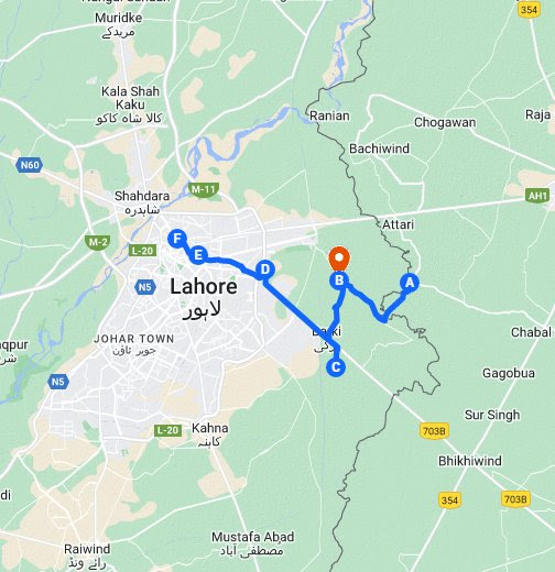 Kos Minars of Lahore – Google My Maps