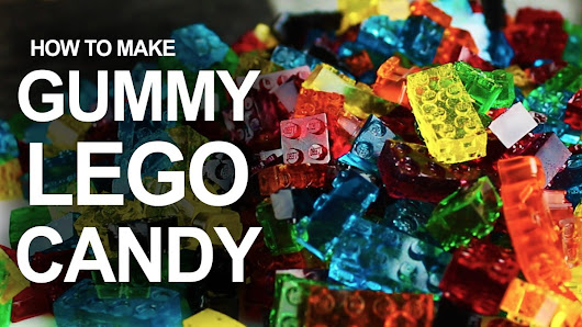 A Tutorial on How to Make LEGO Brick Gummy Candies