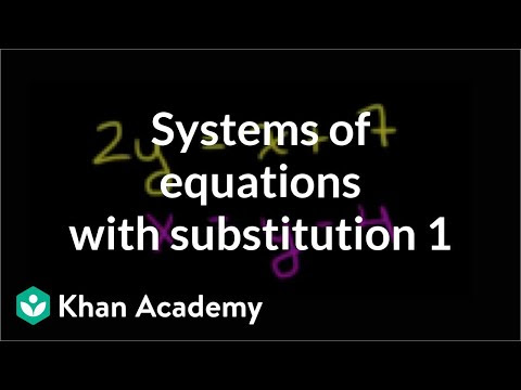 Systems Of Equations With Substitution 2y X 7 X Y 4 Video
