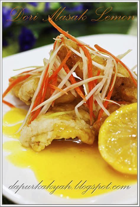 dapur kak yah ikan dori masak lemon