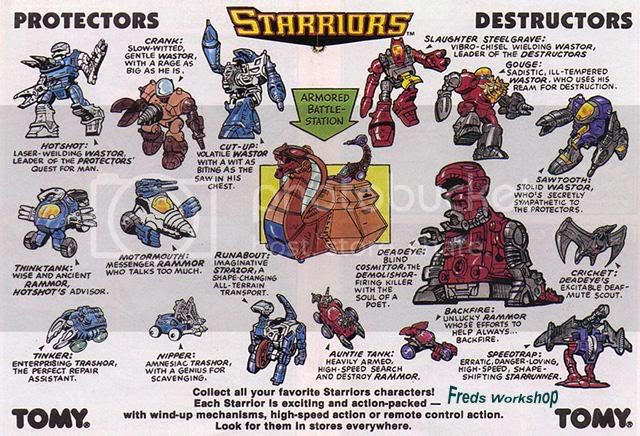 The Starrior roster.