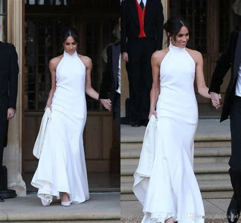 Elegant White Wedding Dresses 2018 Prince Harry Meghan