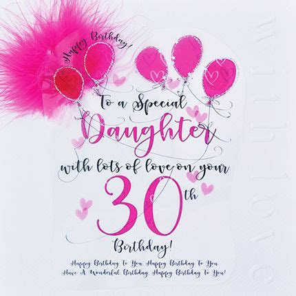 Handmade Daughter 30th Birthday Card   Large, Luxury