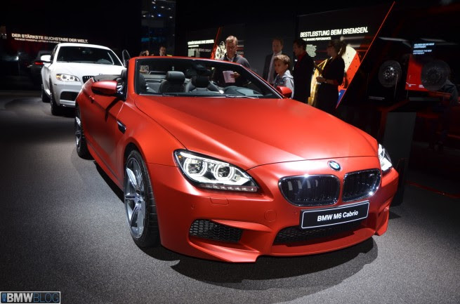 2013 Frankfurt Auto Show: BMW M6 Convertible and BMW M6 Gran Coupe
