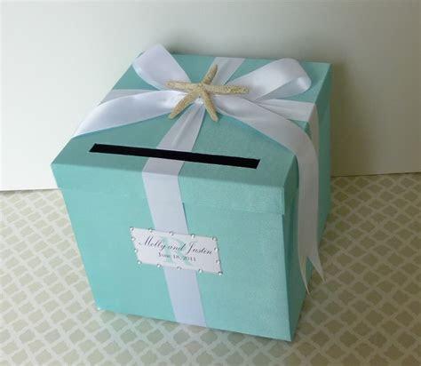 Wedding Card Box Tiffany Blue Beach Theme Starfish Money
