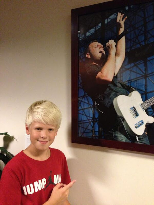 "12 year old Carson Lueders in Studio Radio Show Singing ""My Own Little World"" by Matthew West"