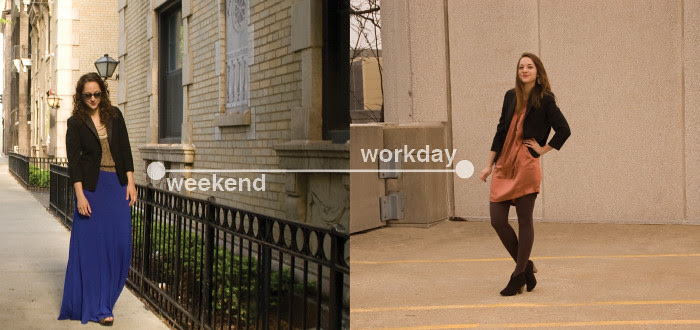 workday to weekend, tiny tuxedo jacket, remix, ootd, how to wear, one piece many ways, previously on