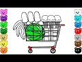 Shopping Basket Coloring Pages