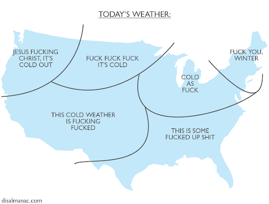 Disalmanac | Today's weather: a handy map. ...