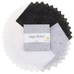 "Simply Neutral~ Charm Pack 42, 5"" Cotton Squares -Northcott"