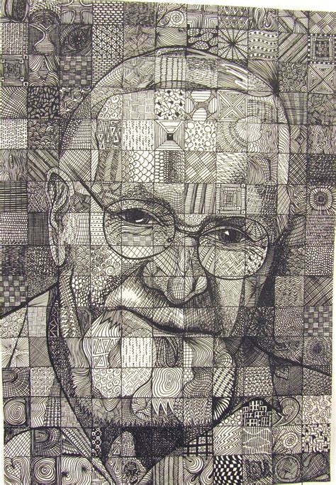 papa bylou traylor   grid drawing  pattern