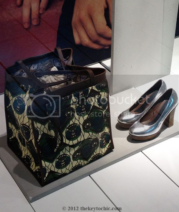 Marni at H&M tote bag, Marni at H&M silver heels