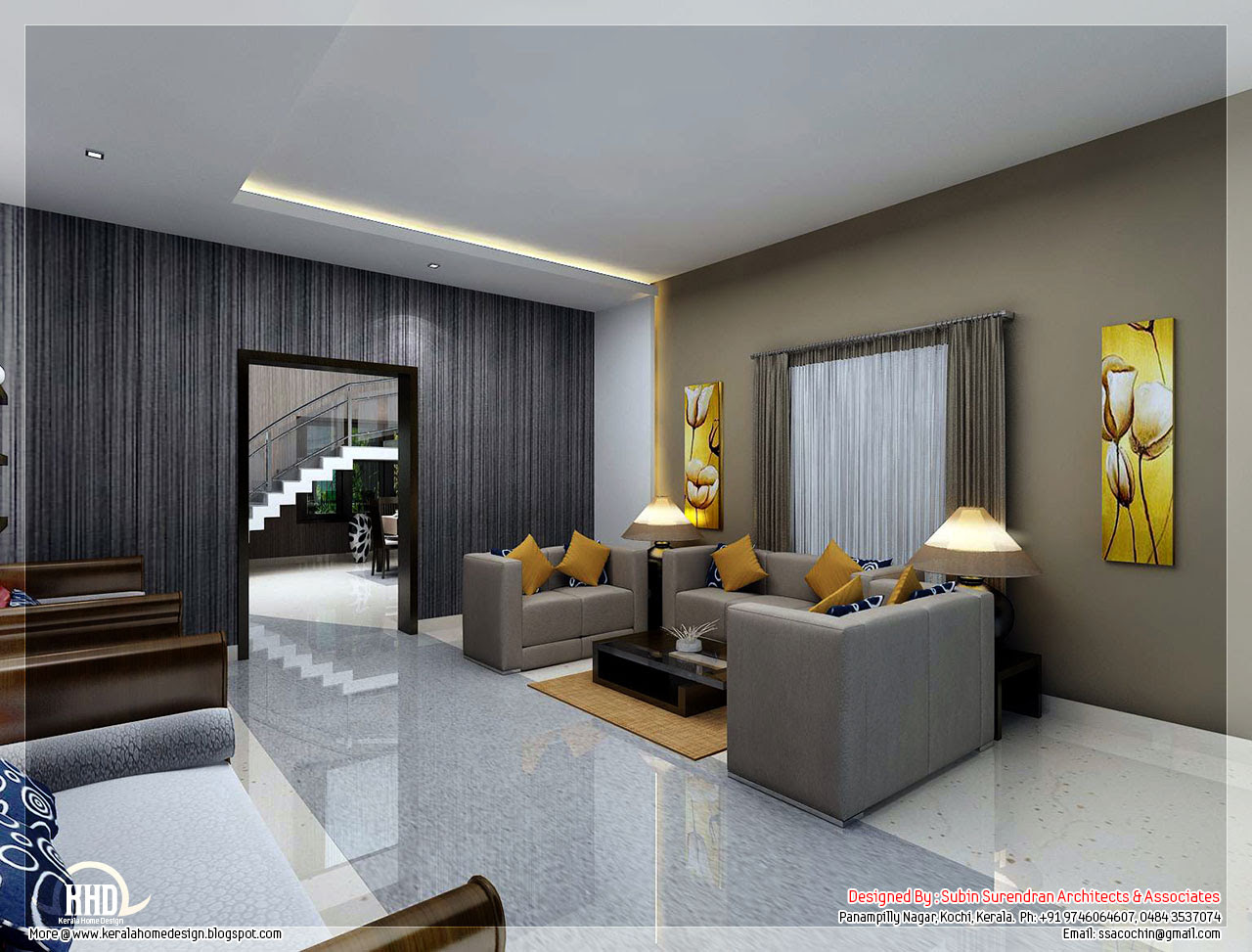 Modern Living Room Kerala Style 33 Design Ideas ...
