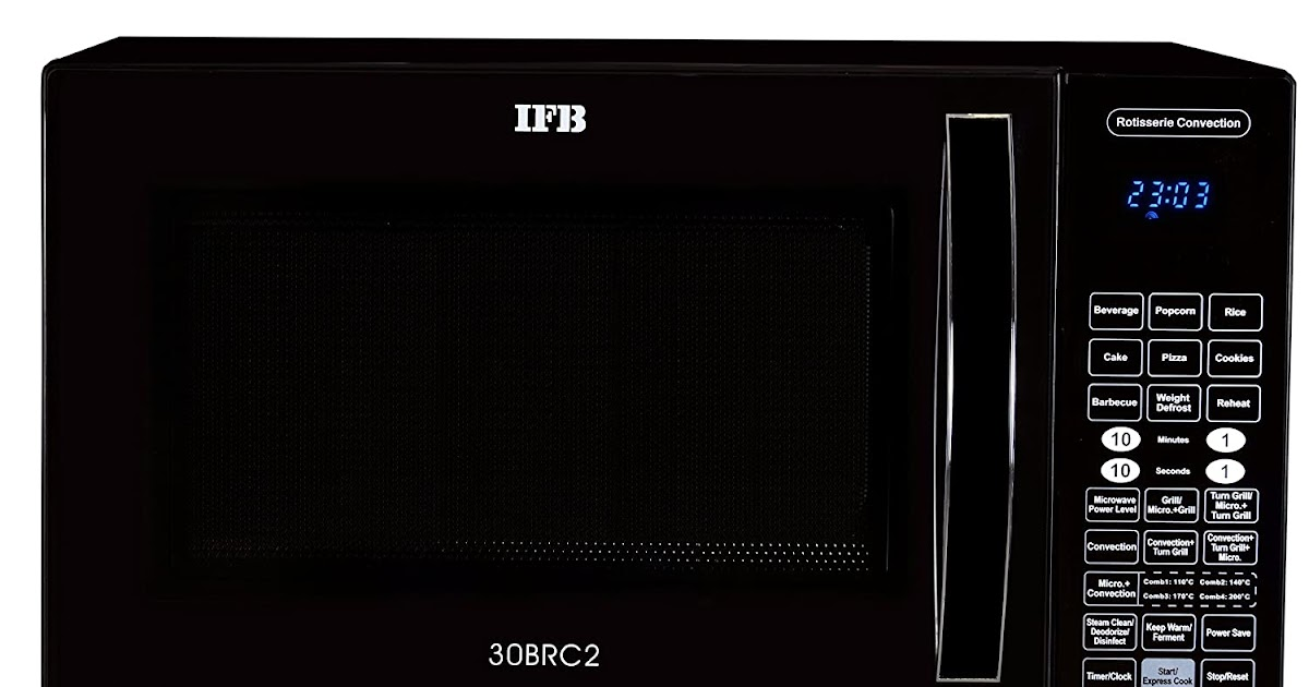 ifb 30brc2 30 litre rotisserie convection microwave oven black best home and kitchen store. Black Bedroom Furniture Sets. Home Design Ideas