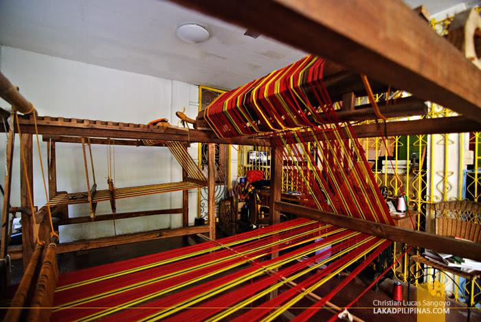 Weaving at Camina Balay Nga Bato Ancestral House in Iloilo City