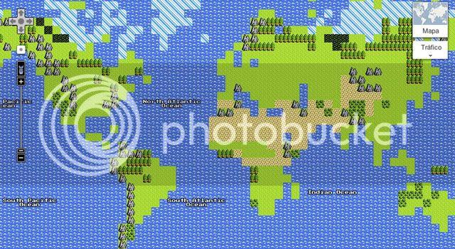 Google Maps NES 8 bit