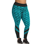 JMS Active Pieced Mesh Run Tight OJ907 - Triangle Planes/Upbeat Teal