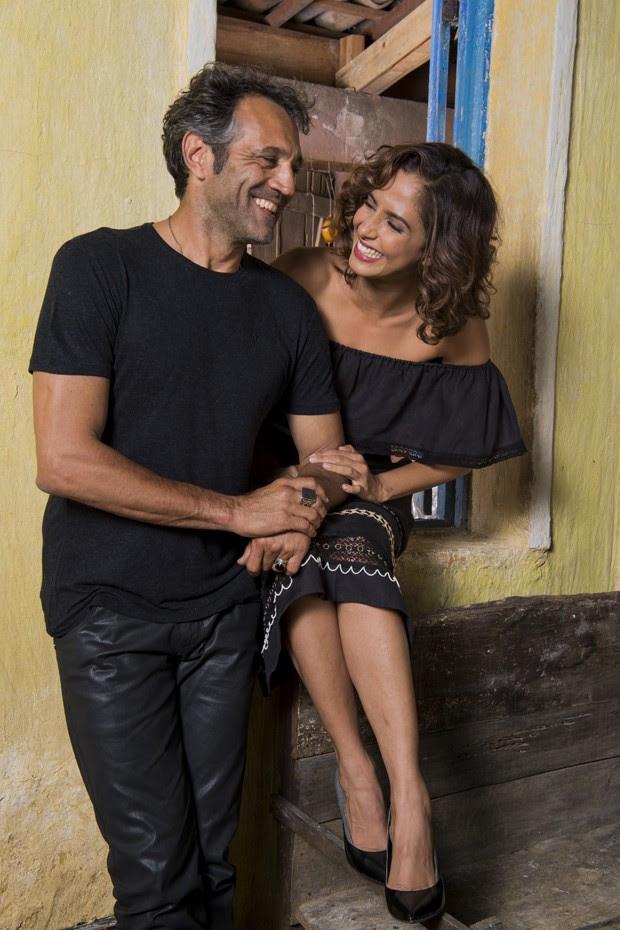 Camila Pitanga e Domingos Montagner (Foto: Caua Franco/TV Globo)