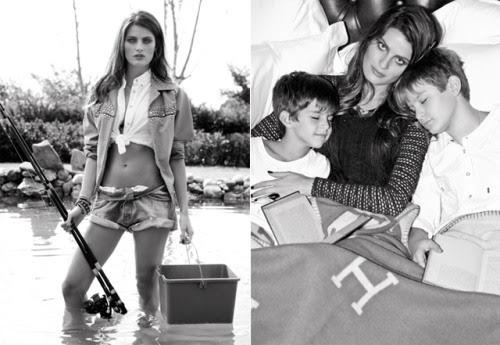 Isabelli Fontana na a Vogue Brasil de junho de 2012, clicada com os Filhos Zion e Lucas porJ. R. Duran.